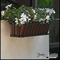 30in. Venetian Decora Window Box w/ Textured Bronze Liner (Hammered Finish)