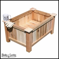 31in. Slatted Cedar Planter w/ Feet