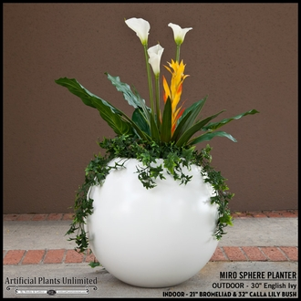 32in. Calla Lily Bush - White|Indoor - NFR
