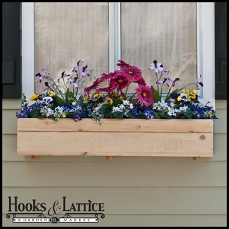 32in. Standard Cedar Wood Window Box incl. Back Cleat Mounting Bracket