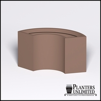 Modular 1/3 Circle Fiberglass Commercial Planter 33.25in.Rad. x 18in.W x 30in.H