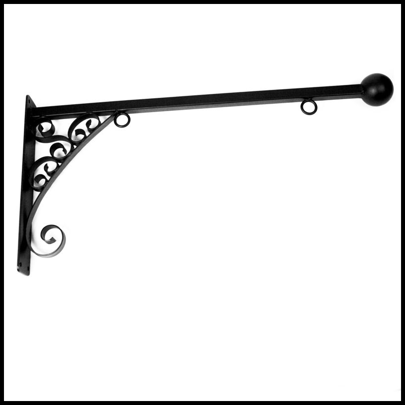 "Wall Hanging Brackets 33"" florence lower scroll sign bracket"