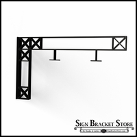 "34"" Crosshatch Truss Fixed Mount Sign Bracket"
