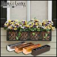 "36"" Alexandria Aluminum Window Box"
