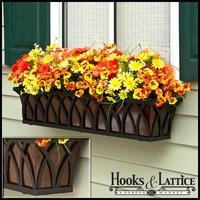 "36"" Arch Decora Window Box with Oil-Rubbed Bronze Galvanized Liner"