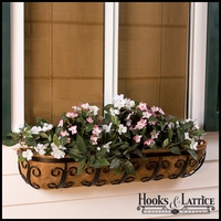 "36"" Deluxe Mariposa Window Basket w/ Std. Liner"