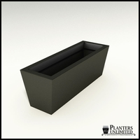 Modern Tapered Fiberglass Commercial Planter 36in.L x 12in.W x 12in.H
