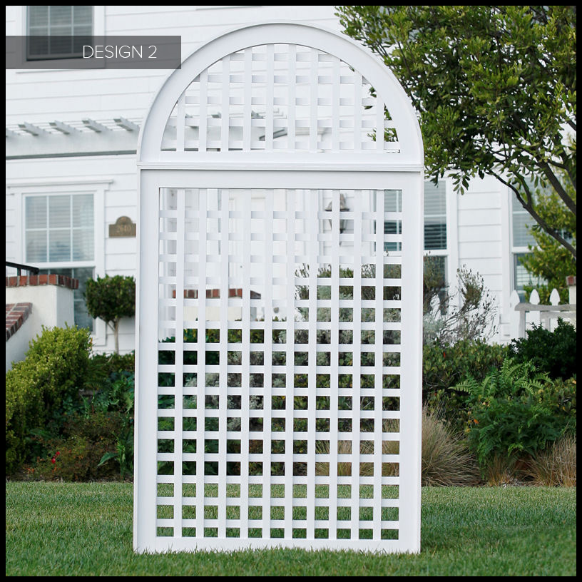 Large hotel planters with pvc garden trellis hooks lattice for Outdoor lattice
