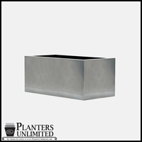 Stainless Steel Commercial Planter 36in.L x 18in.W x 18in.H