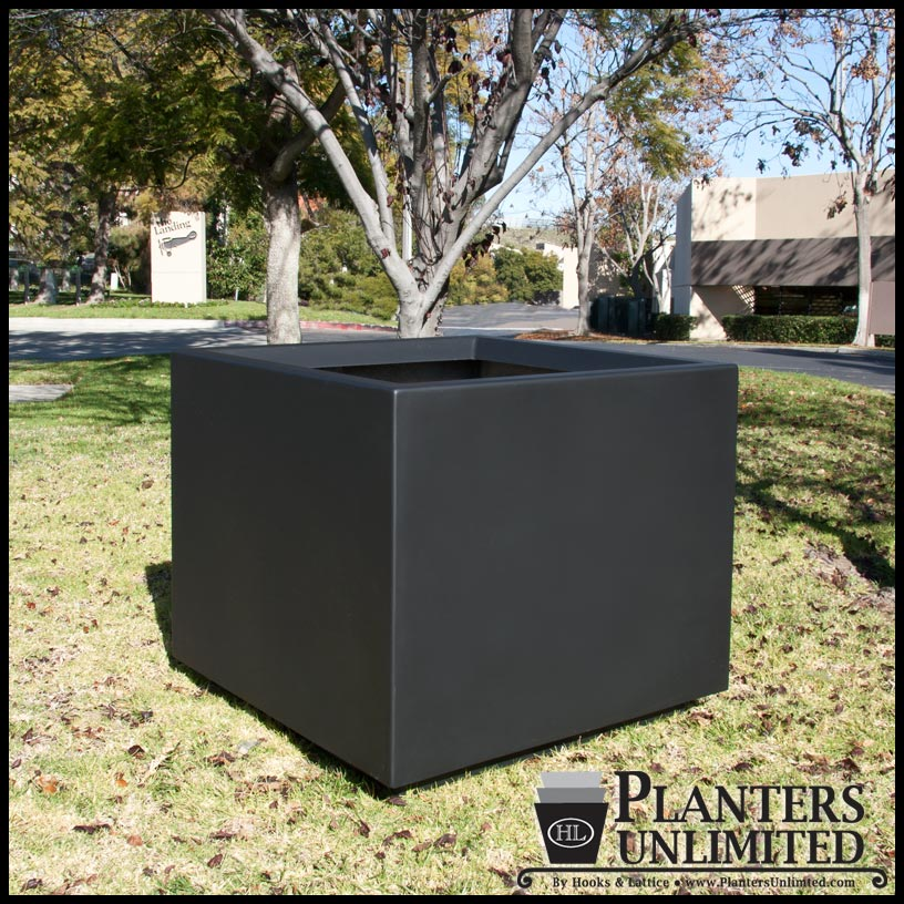 36 l x 36 w x 36 h capri square planter. Black Bedroom Furniture Sets. Home Design Ideas