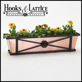 "36"" Medallion Decora Window Boxes w/ Real Copper Liner"