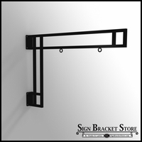 36in. Modern Truss Hanging Sign Bracket