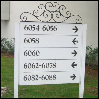 "36"" Ornamental Scroll Sign Header"