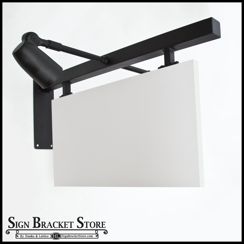 Palisades Lighted Sign Bracket W Square Corner Sign Blank