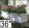 "36"" Supreme Petite Fiberglass Window Box"