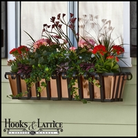 "36"" Venetian Decora Window Box w/ Real Copper Liner"