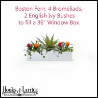 "36"" Window Box Recipe - Artificial Tropical Flowers"