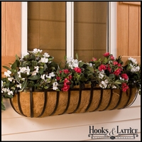 "36"" XL Scroll Window Box w/ XL Coco Liner"