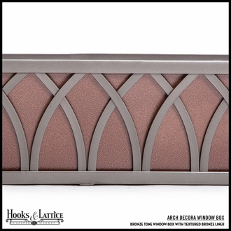 36in. Arch Decora Window Box w/ Textured Bronze Liner (Hammered Finish)