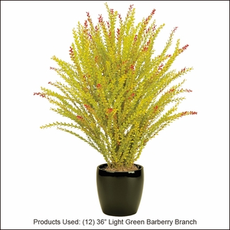 36in. Artificial Barberry Shrub Light Green-Outdoor Rated