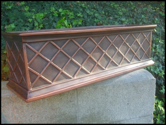 36in. Copper ArmoreCoat La Fleur Window Box