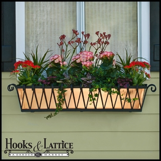 36in. Del Mar Decora Window Box w/ White Galvanized Liner