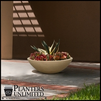 36in. Dia. x 12in.H Tuscany Low Bowl Planter
