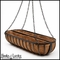 36in. English Garden Oblong Hanging Basket