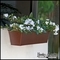 36in. Galvanized Window Box- Textured Bronze (Hammered Finish)