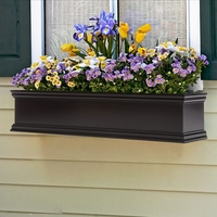 24in. Laguna Black Premier Direct Mount Flower Box