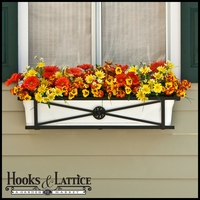 36in. Medallion Decora Window Box w/ Vinyl Liner