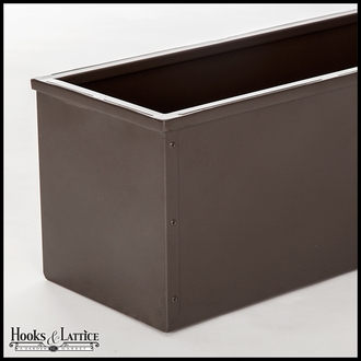 36in. Metal Window Box Liner, Bronze-Tone Finish