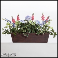 26in. Modern Farmhouse Window Box - Reclaimed Cherry Finish
