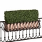 36in. Outdoor Artificial Boxwood Hedge with European Cage w/ Liner Window Box