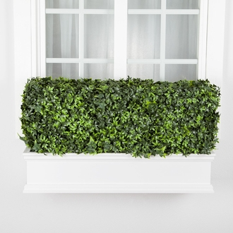 36in. Outdoor Artificial Ivy Hedge in White Window Box