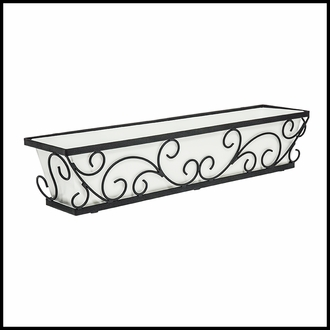 36in. Regalia Decora Window Box with Textured Bronze Liner (Hammered Finish)