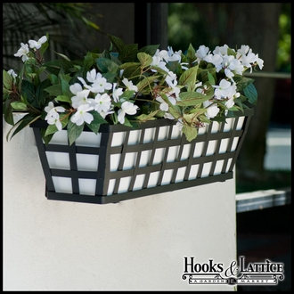 36in. Santiago Decora Window Box w/ White Galvanized Metal Liner