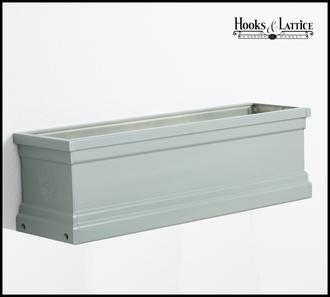36in. Slate Grey Supreme Fiberglass Window Box