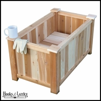 36in. Slatted Cedar Planter w/ Feet