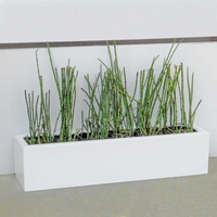 36in. Small Urban Chic Rectangular Fiberglass Porch Planter - Choose from 3 Colors