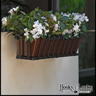 36in. Venetian Decora Window Box w/ Textured Bronze Liner (Hammered Finish)