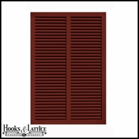 36in. Wide - Architectural Fiberglass Bahama Shutter w/ Hardware Kit