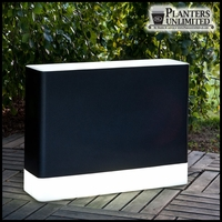 "37""L x 10""W x 28""H Mezzaluna Illuminated Rectangular Planter"