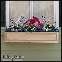 38in. Raised Panel Cedar Window Box