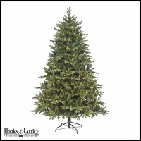 4.5 ft Deer Run Pre-Lit Fir Artificial Christmas Tree w/ Clear Lights