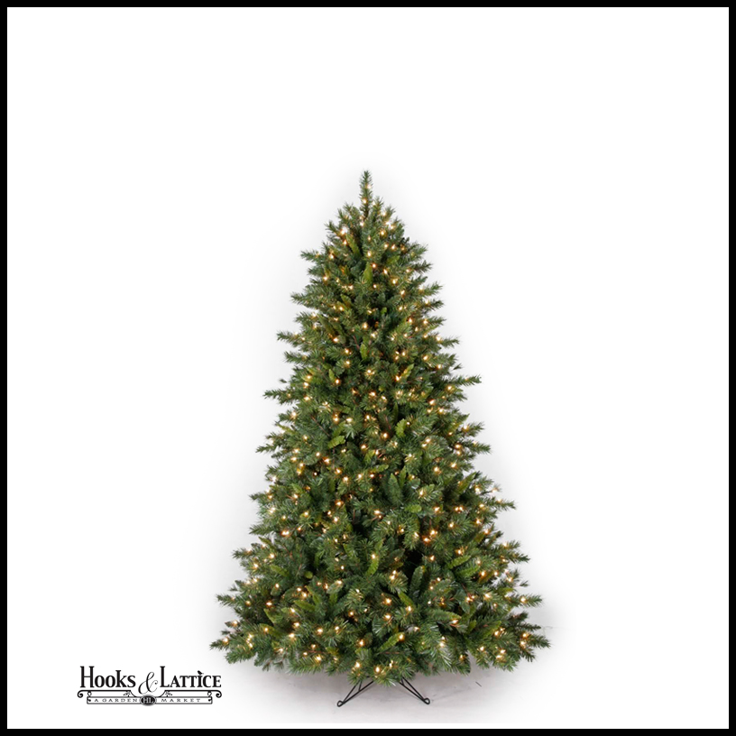 4 5 ft pre lit spruce artificial christmas tree white lights. Black Bedroom Furniture Sets. Home Design Ideas