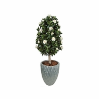 4.5' Outdoor Artificial Gardenia Topiary