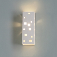 "4.5"" Rectangular Sconce w/ Geometric Light Squares"