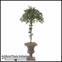 4' Artificial Sage Ivy Topiary Tree
