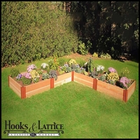 "4'x12'x12""  ""L"" shaped Western Red Cedar Raised Garden Bed"